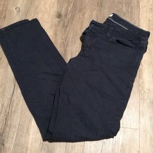 navy blue skinny chinos banana republic 28 long